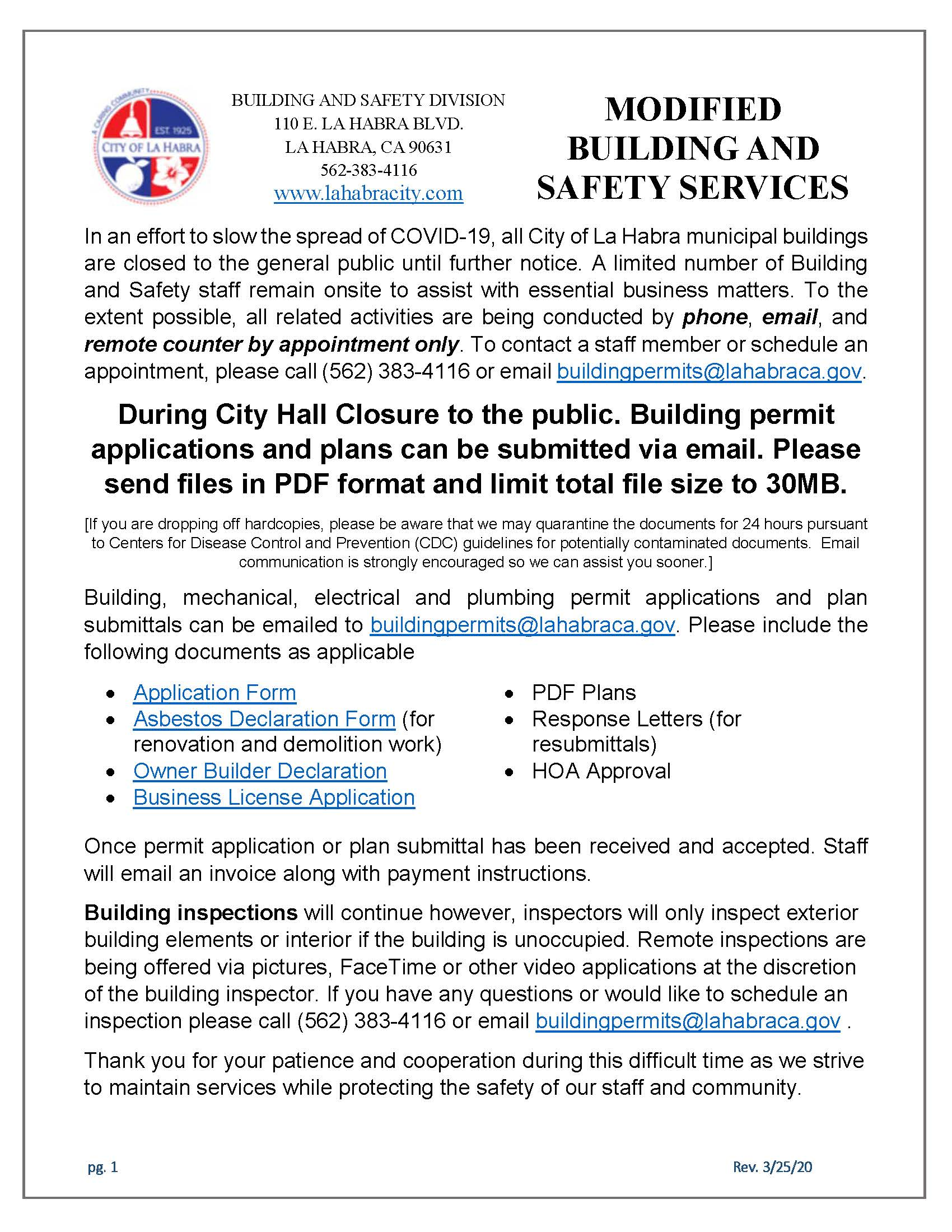 Modified Building and Safety Services PDF