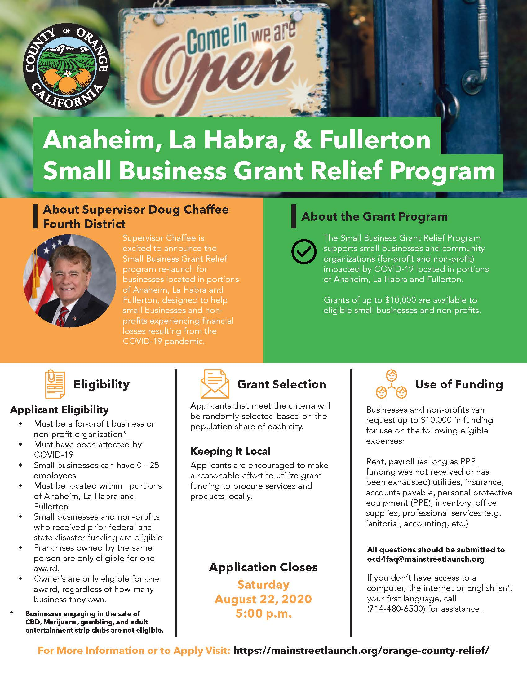 Small Business Grant Relief Program