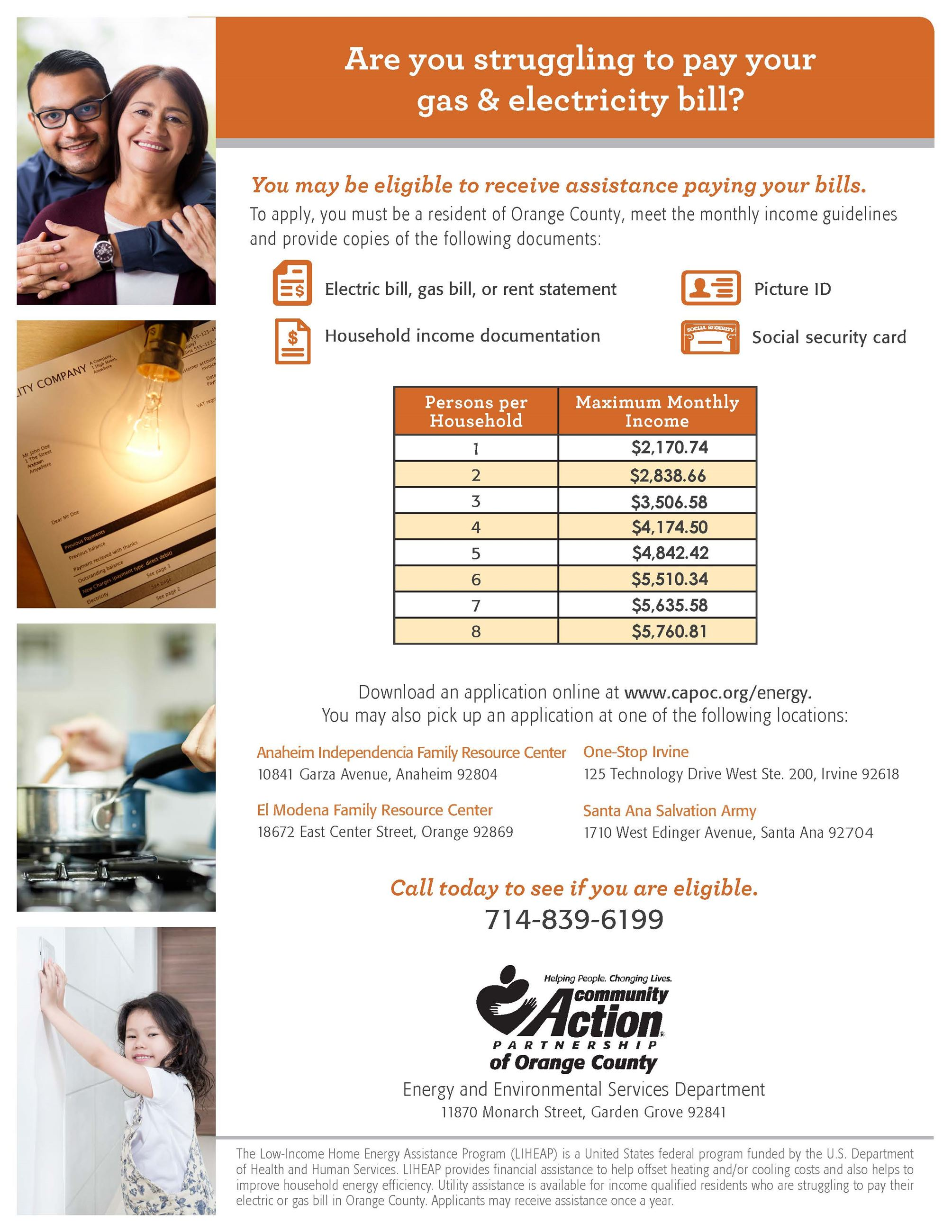 Utility Assistance Flyer