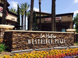 La Habra Westridge Plaza Cobblestone Sign