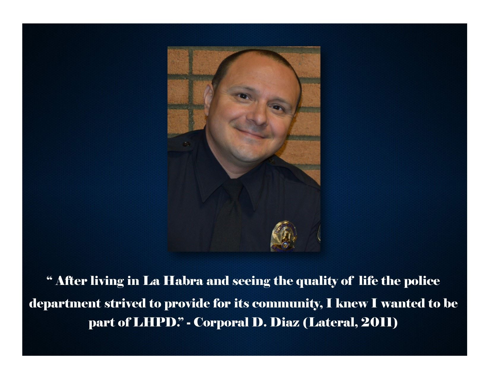 Police Officer Diaz Quote