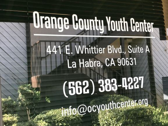 Orange County Youth Center Sign
